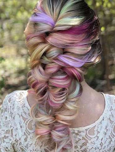Colorful Hairstyle Ideas for Bridal