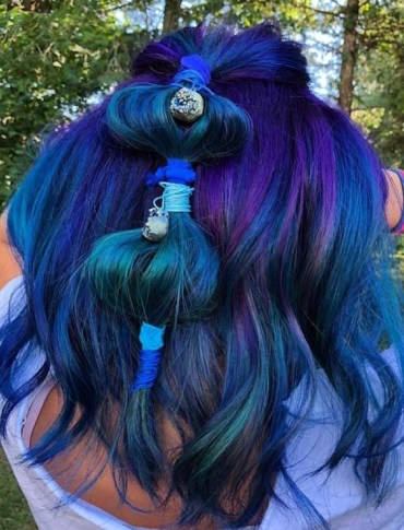Beautiful Blue Hair Color Ideas for 2018