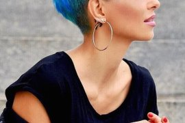 Short Blue Pixie Haircuts for Women 2018