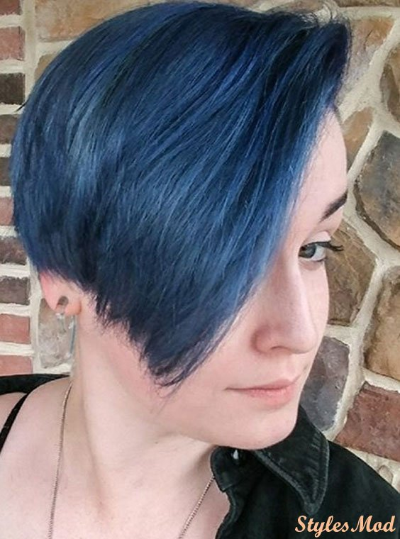 Black & Blue Hair Color Trends & Highlight