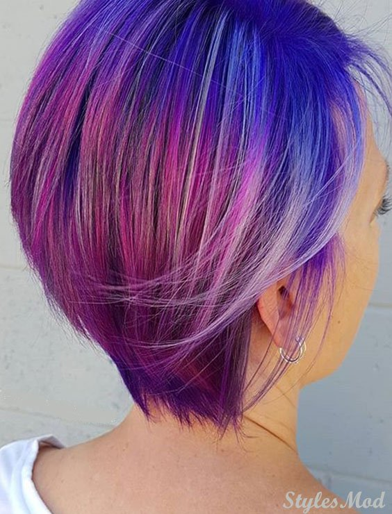 Blue and Pink Hair Color Ideas