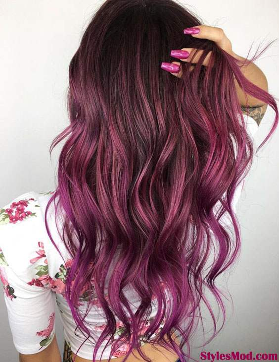 Black To Purple Hair Color Trends