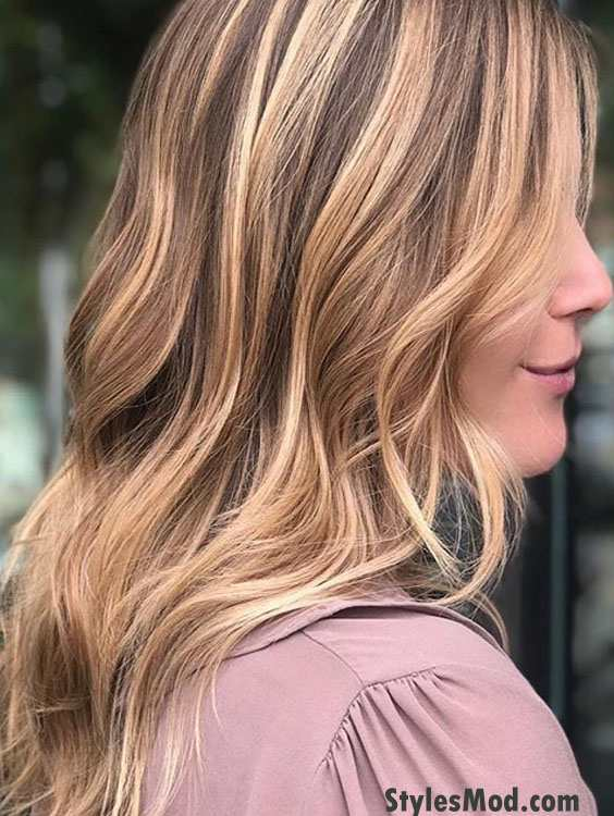 Lovely Copper Light Brown Hair Color Highlight For 2018