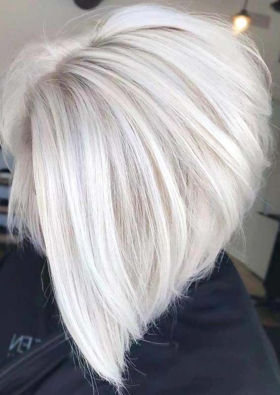 Platinum Blonde Bob Haircuts in 2018