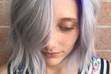 Purple & Silver Hair Color Ideas for 2018