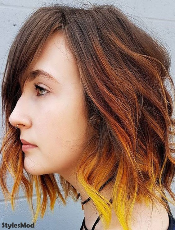 Red & Yellow Hair Color Ideas for 2018