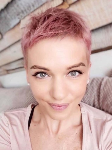 Very Short Pixie Pink Haircut Styles for 2018
