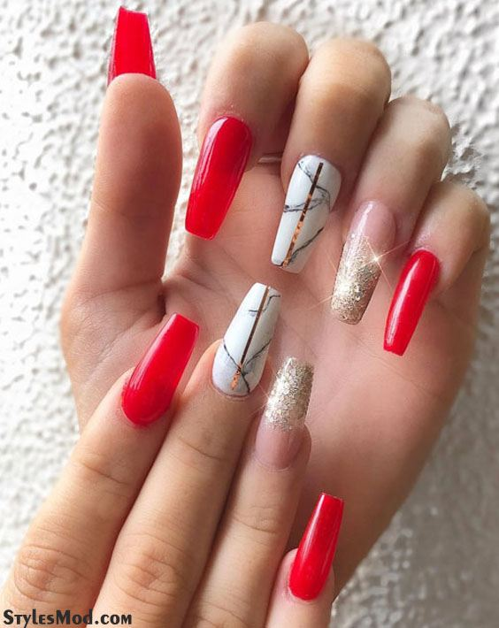 Excellent Look Of Red Nail Styles Ideas For Long Nails In 2019