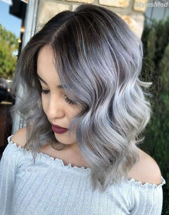 Adorable Styles of Grey Hair Color Ideas for Superior Girls & Women ...