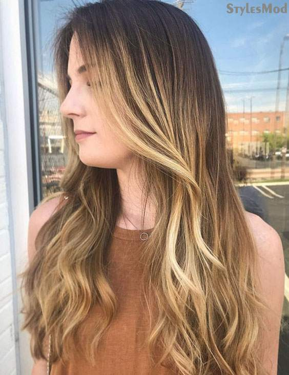 Amazing Long Blonde Balayage Highlights for Women In 2018