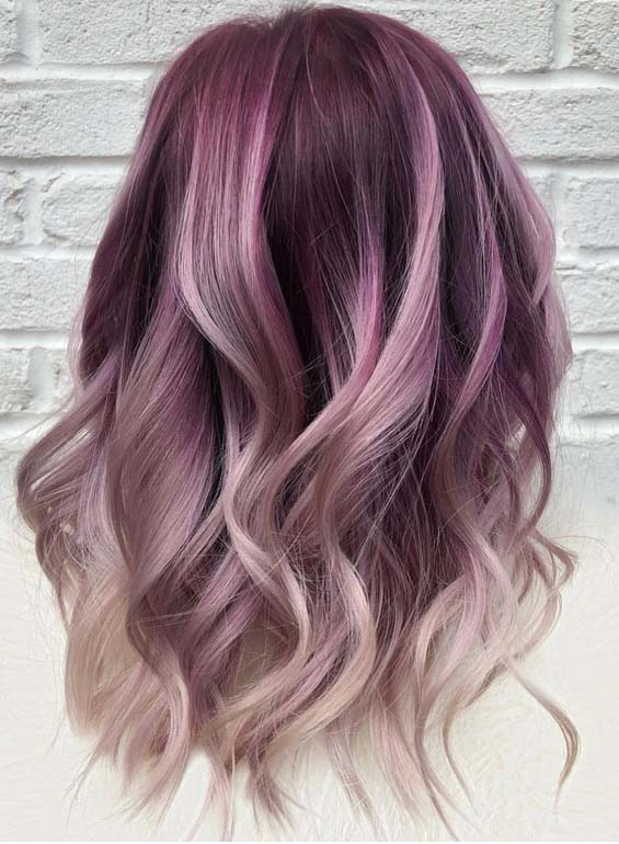 Modern Trends Of Purple Hair Colors for 2018