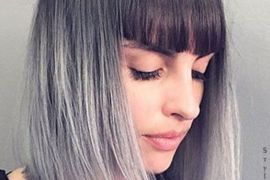 Fashionable Ombre Bob Hairstyles with Blunt Bangs can Wear Anyone