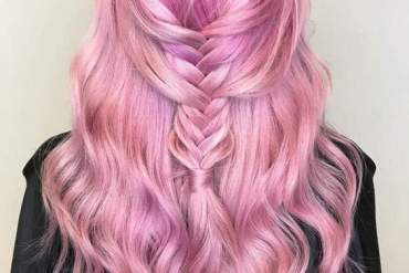 Super Cute & Stylish Braids Look with Pink Hair Color Ideas