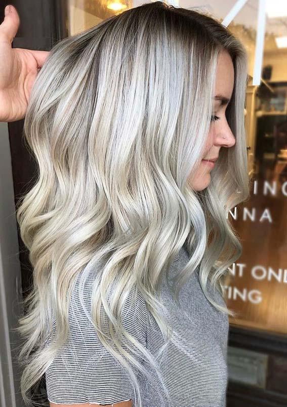 Light Ash Brown Hair Balayage Short