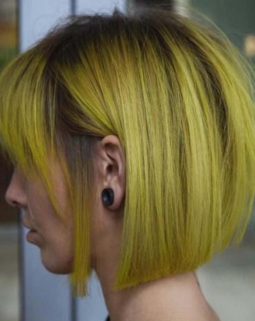 Yellow Bob Haircuts for Women 2018