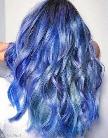 Dazzling Look of Blue Hair Color Ideas for Blonde Girls In 2018