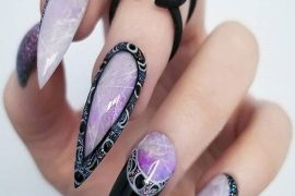 Adorable Nail Designs & Style with Black Color Combination