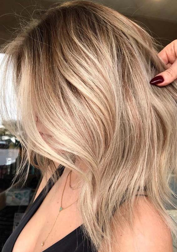 Perfect Honey Blonde Hair Colors With Dark Roots In 2018