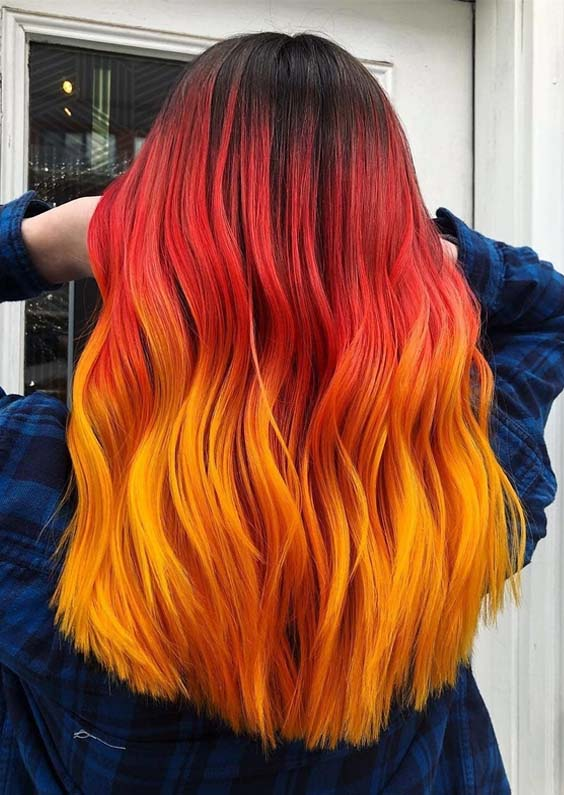 Hottest Red Orange Hair Color Combinations in 2018 | Stylesmod