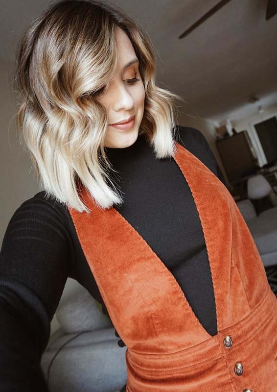 Short Balayage Blonde Haircutsin 2018