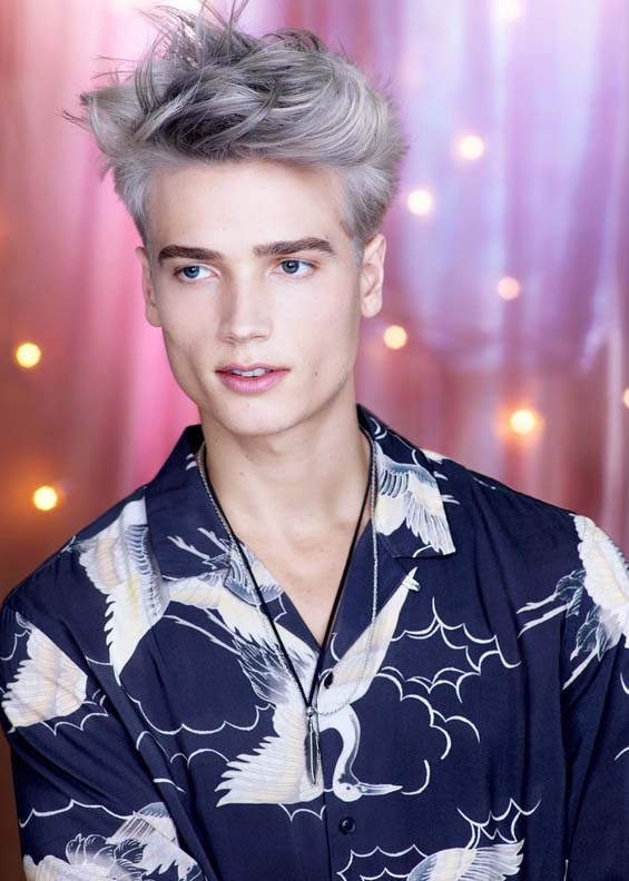 Silver Grey Men's Haircuts for Short Hair 2018