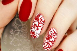 Unique Red & White Nails Designs for 2018