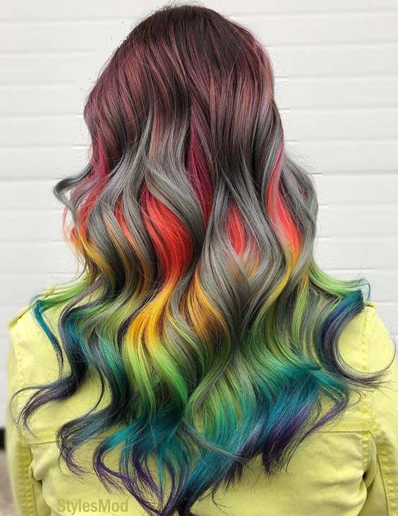 Colorful Hair Color Style & Highlight for 2019