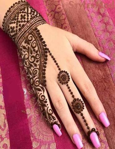 Impressive Ideas of Henna Mehndi for Model Girls