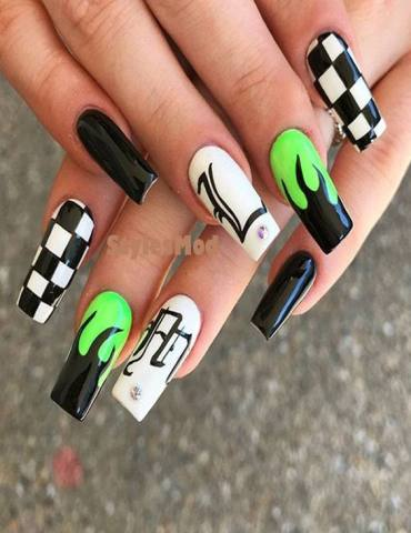 Lovely & Colorful Nail Design & Pictures for Weekend