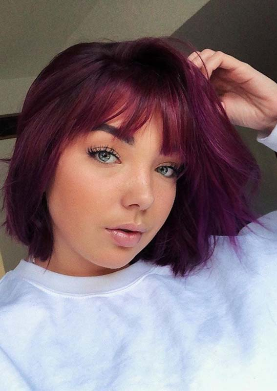 Poison and Purple Rain Hair Colors for Short Hair in 2019