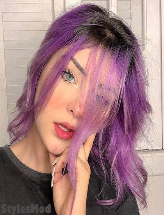 Brilliant Pastel Purple Hair Color Highlight & Styles for 2019