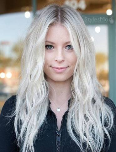 Charming Silver Long Hairstyle Trends for 2019