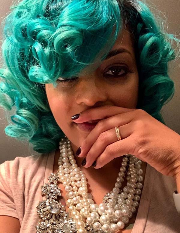 Natural Blue Curly Hairstyles for Short Hair in 2019