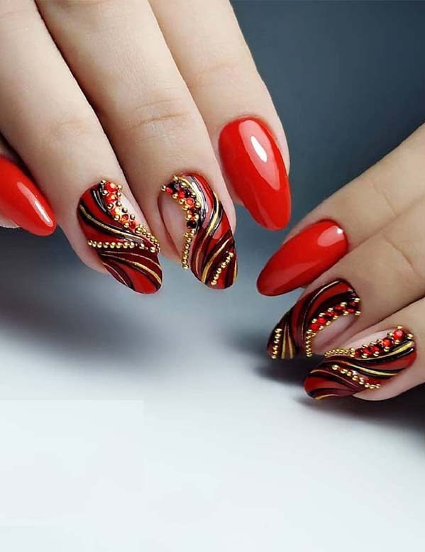 Red Nail Designs You Must Follow in 2018