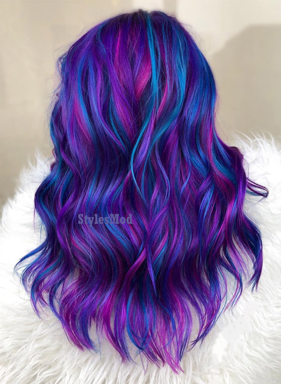 Wonderful Hair Color Combination & Styles for 2019