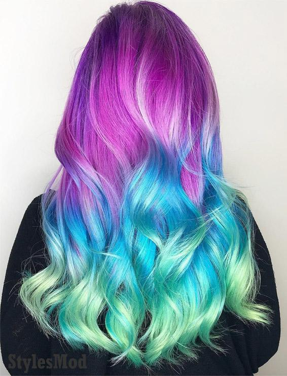 Adorable Unicorn Hair Color Ideas for Girls & Ladies