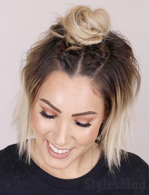 Cutest Top Bun Dutch Braids Hairstyles To Try Now