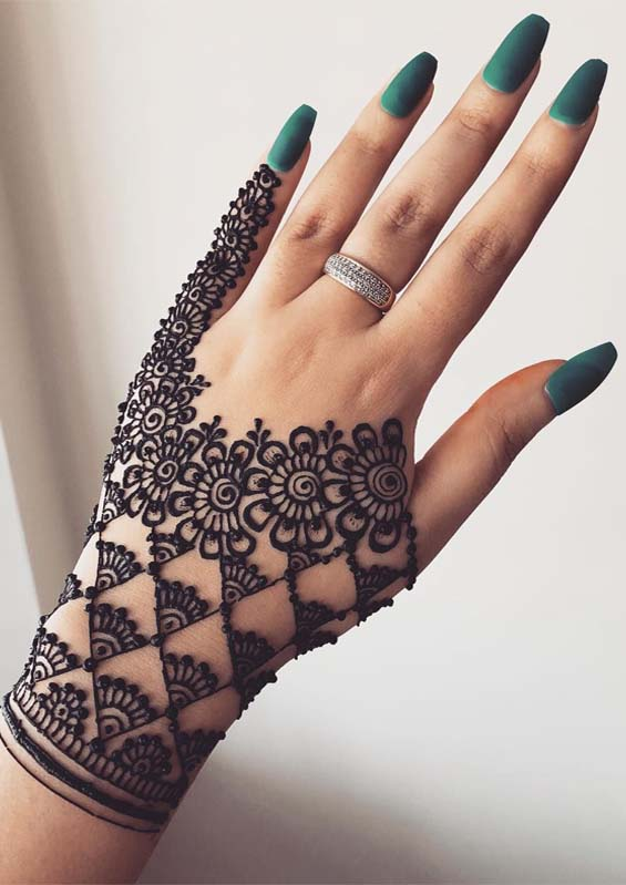 Latest Hand Henna Designs for Weddings in 2019