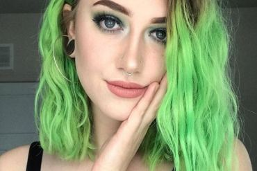 Fresh Green Hair Color Ideas for Short Hair