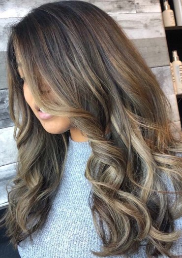 Balayage Babylights and Foilayage Hair Colors Combo in 2019