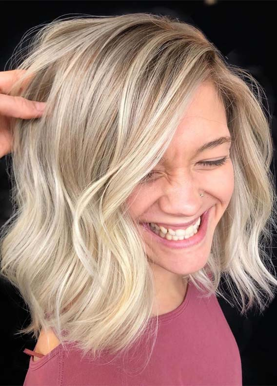 Dimensional Rooted Blonde Hair Color Ideas for 2019