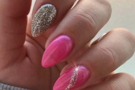 Glitter and pink nail designs for 2019