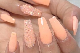 Orange Nail Polish & Nail Design Ideas for 2019