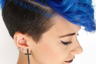 Blue Pixie Haircuts for Short Hair in 2019