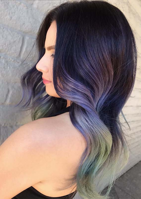 Brightest Pastel Hair Colors & Hairstyles for 2019