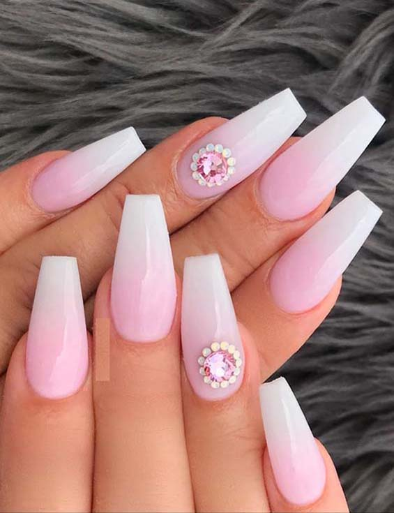 Cutest French Ombre Nail Designs & Images for Girls 2019