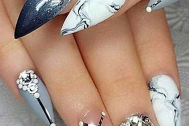 Gradient Marble Shell Nail Art Designs in 2019