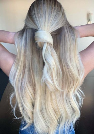 Knotted Blonde Balayage Hairstyles for 2019