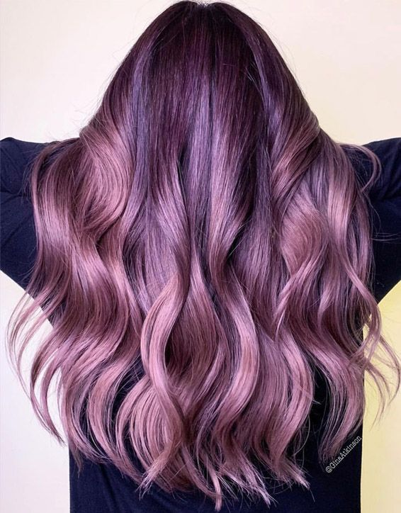 Misty Muave Hair Color Highlights for Ladies