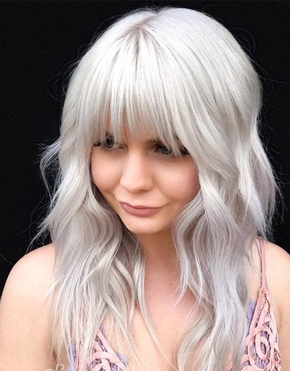 Platinum Shag Haircuts for the year of 2019